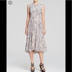 Rebecca Taylor silk zip detail front dress 4